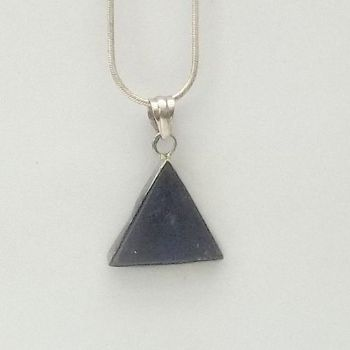 Equilateral Triangle Lapis Pendant
